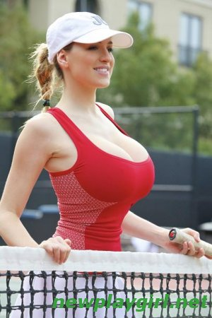 Jordan Carver - Tennis photoshoot