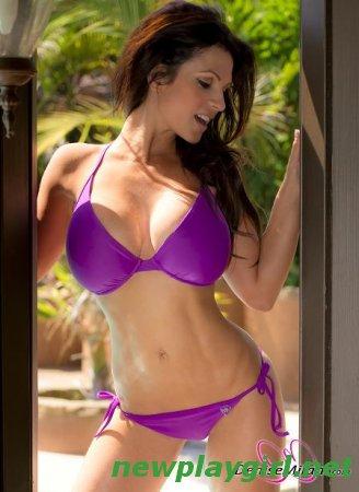 Denise Milani - Lilac Bikini