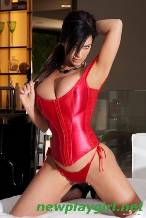 Denise Milani - Red Corset