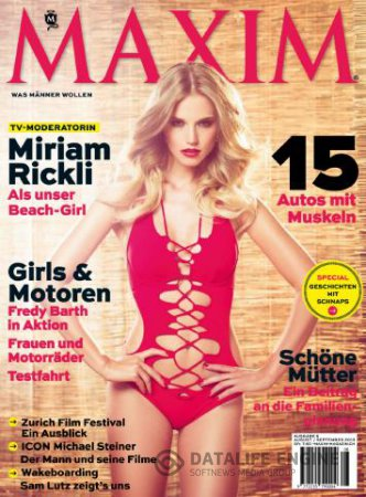 Maxim Switzerland - August/September 2013