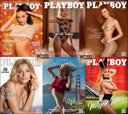 Playboy Slovenia - Full Year 2018 Issues Collection