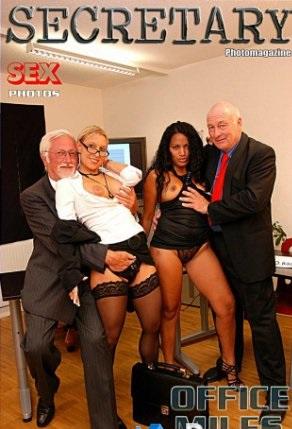 Sexy Secretary Nylon MILFs Adult Photo Magazine - April 2018